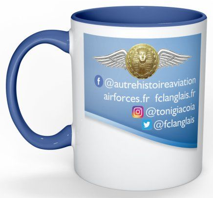 Mug ou tasse du livre une autre histoire de l'aviation verso