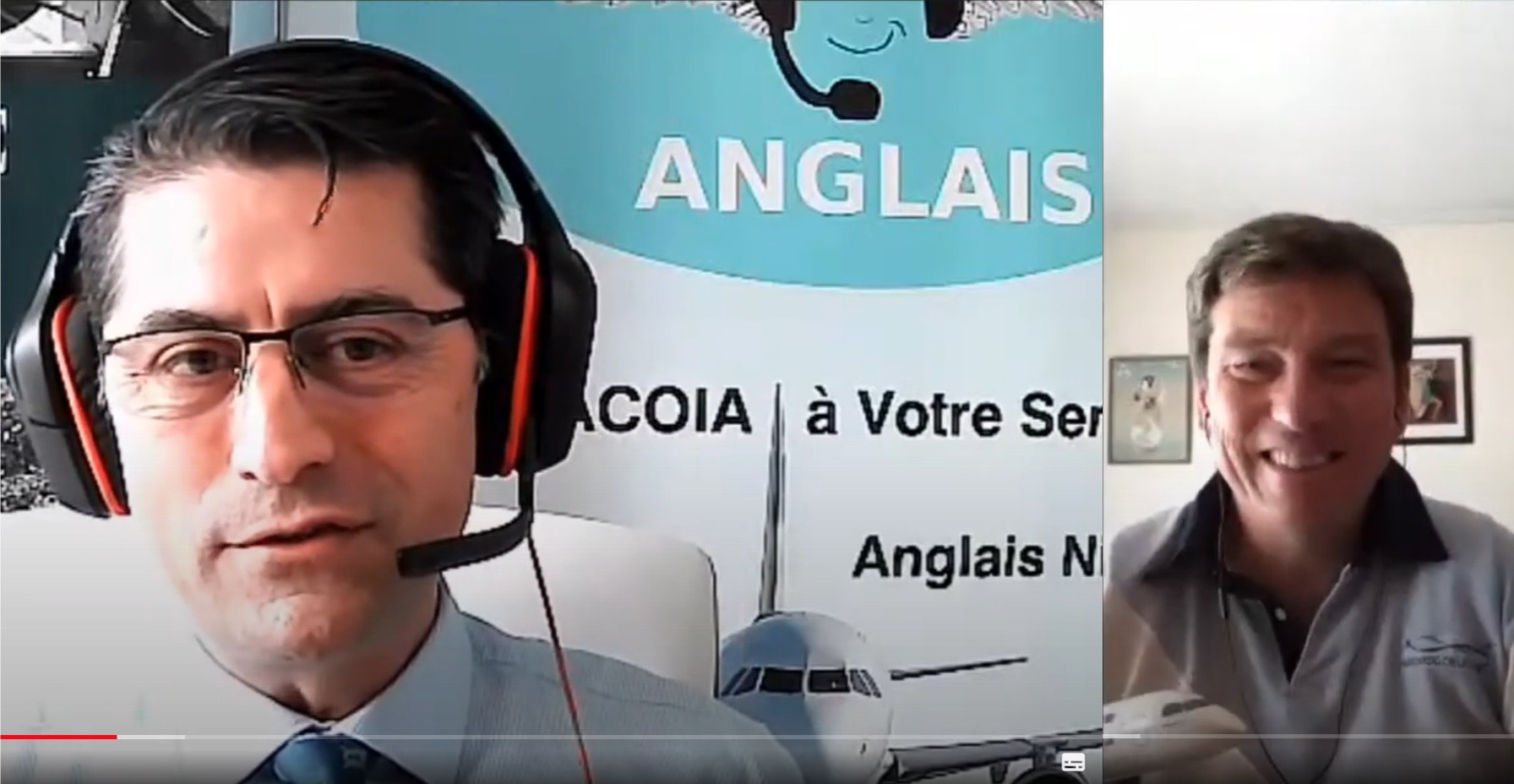 Anglais de l'aviation, Fête de l'aviation, Ivan Hairon interview Toni Giacoia visioconférence video